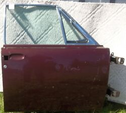 1961 Thru 1963 Lincoln Continental R-h Side Passenger Front Door Curved Glass