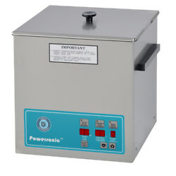 New Crest Powersonic P500d-45 1.5 Gal Heated Ultrasonic Cleaner, 500pd045-1