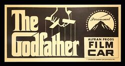 The Godfather ✯ Cinemasterpieces Rare Original Movie Poster Film Car Placard