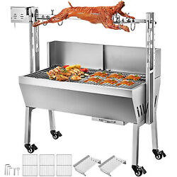 132 Lbs Bearing Lamb Spit Roaster Machine Grill Pig  Chicken Charcoal Electric