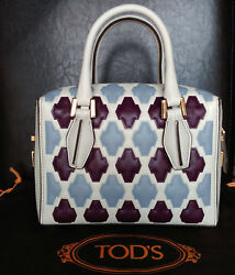 TOD'S Women's 'Mini D-Cube – Bauletto' Small Bowler Bag MSRP $2425.00 Italy