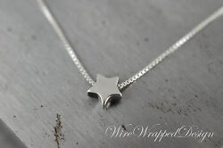 Sterling Silver Star Necklace Stud Earring And Bracelet Or Anklet Set Jewelry