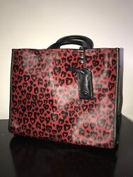 COACH Calf Hair Purse Cheetah Red Print