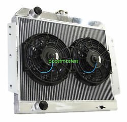 For 66-69 International Scout V8 Mt 3 Row Performance Radiator+10 Fans
