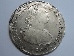 1800 Potosi 8 Real Charles Iv Bolivia Mint Spanish Colonial Silver Spain