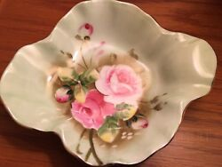Lefton China Hand Painted Candy Dish