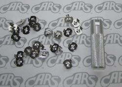 1936-1990 Chrysler Molding Emblem Ornament Mounting Clips With Tool