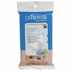 Dr. Brown's Naturally Clean Pacifier & Bottle Wipes Alcohol Free 30 Count New