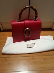 New Gucci Dionysus Top Handle red bag with tags and dust bag