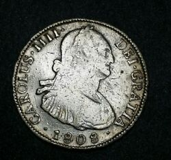 Bolivia 1808 Pj 4 Reales King Charles Iiii Potosi Silver Milled Bust Round Coin