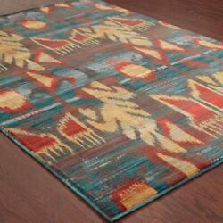 Sedona by Oriental Weavers. Casual Transitional Area Rug. BlueRedGrey 4378H