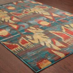 Sedona by Oriental Weavers. Casual Transitional Area Rug. Blue/Red/Grey 4378H