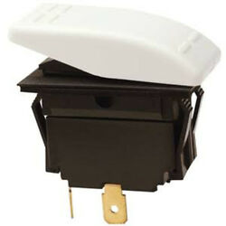 White Spst 2 Position Momentary On / Off Rocker Switch For Boats