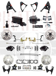 1967-69 Camaro Wilwood Calipers Front And Rear Power Disc Brake Kit Tubular A Arms