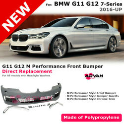 For BMW 7 Series G11 G12 16-19 M Performance Sport Front Fascia Kit Bumper Cover