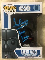 Dave Prowse Signed Autographed Darth Vader Funko Pop Star Wars Beckett Coa 5