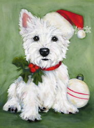 West Highland Terrier ACEO WESTIE PRINT Painting