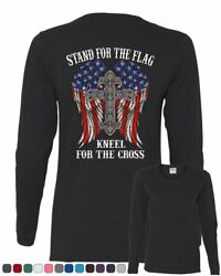 Stand for the Flag Kneel for the Cross Women#x27;s Long Sleeve Tee $16.99