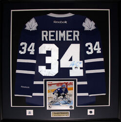 James Reimer Toronto Maple Leafs Signed Jersey Nhl Hockey Collector Frame
