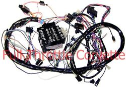 Early 1977 Corvette Wiring Harness Dash Automatic Transmission Us Repro C3 New