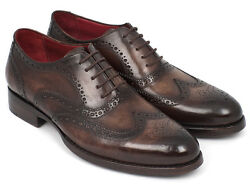 Paul Parkman Wingtip Oxfords Goodyear Welted Brown Id027-brw