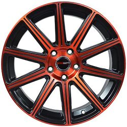 4 GWG Wheels 20 inch Red MOD Rims fits CHEVY IMPALA 2000 - 2013