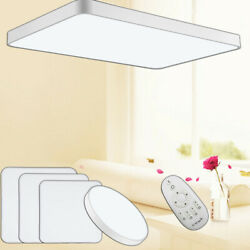 Dimmable LED Ceiling Lights 96W 64W 48W Flush Mount Ultra-thin Lamp Fixtures US