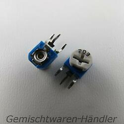 2x 1000 Ohm Standing Trimmer Potentiometer Trimmpoti Rotational Resistance 1 K