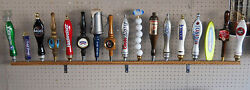 Lot Of 3ea Wall Mount 17 Beer Tap Handle Displays Hold 51 Taps With Brackets