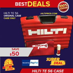 Hilti Te 56 Tool Case Only Case Preowned Free Hilti Bag Quick Shipping