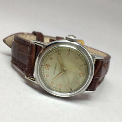 Movado 1950 Vintage Millitary Manual Unisex Size 28mm White Dial Arabric Mineral