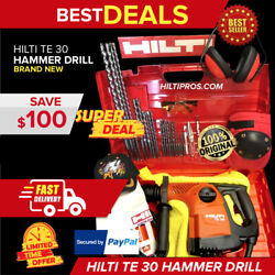 Hilti Te 30 Rotary Hammer Drillbrand New Free Bits And Chisels Fast Shipping