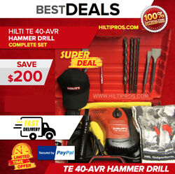 Hilti Te 40 Avr Hammerdrill, Free Bits And Chisels, Great Condition, Fast Ship