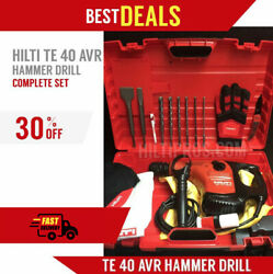 Hilti Te 40 Avr Hammerdrill, Excellent Condition, Free Bits, Extras, Fast Ship