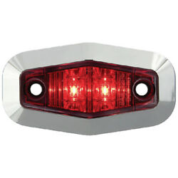 Red Submersible Mini Sealed Led Boat Trailer Clearance And Side Marker Light