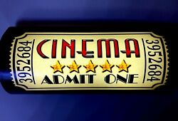 Lot Of 2 Led Home Theater Sign Cinema Ticket Sign Wall Sconces Battery Run