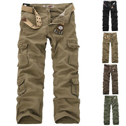 Menand039s Baggy Camo Military Army Cargo Combat Pants Trousers Casual Outdoor Pants