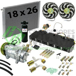 New AC Universal Under Dash Evaporator Complete Kit for Heavy Duty Trucks