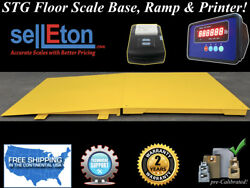 60 X 60 Floor Scale With Ramp 2000 Lbs X .5 Lb + Printer / Industrial Pallet