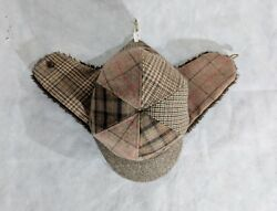 White Mountaineering Trapper Patchwork Plaid Herringbone Pile Flap Hat One Size