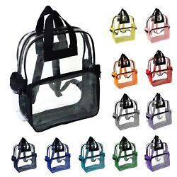 NuFazes Transparent Clear Backpack in Multiple Colors $13.95