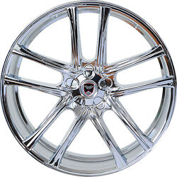 4 GWG Wheels 20 inch Chrome ZERO Rims fits CHEVY IMPALA 2000 - 2013