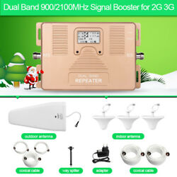 Signal Booster 2g 3g Dual Band 900/2100mhz Repeater Three Ceiling Antenna 800m2