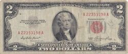 1953 Two Dollar Bill Red Seal Note