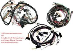 1967 Corvette Wiring Harness Set Us Reproduction C2 Midyear New