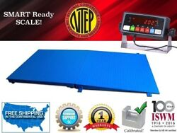 Ntep 5and039 X 7and039 60and039and039 X 84and039and039 Floor Scale With A Ramp L 10000 Lbs X 2 Lbs