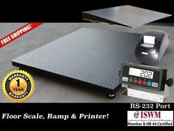 48 X 72 4and039 X 6and039 Floor Scale With Ramp And Printer L 10000 Lbs X 1 Lb