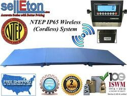 Ntep Floor Scale 48 X 96 4and039 X 8and039 Wireless Cordless 2 Ramp 10000 Lbs X 2 Lb