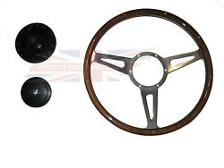 New 14 Laminated Wood Steering Wheel And Hub Adaptor Triumph Stag 1970-1977