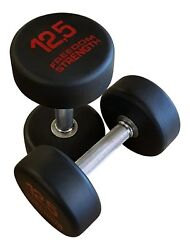 Classic Round Rubber Dumbbells Pairs For Strength Training Crossfit